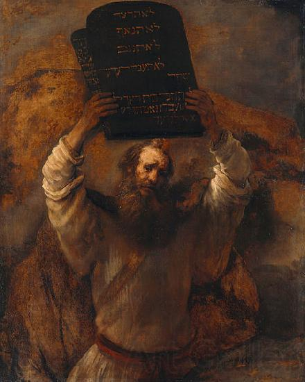REMBRANDT Harmenszoon van Rijn Moses with the Ten Commandments