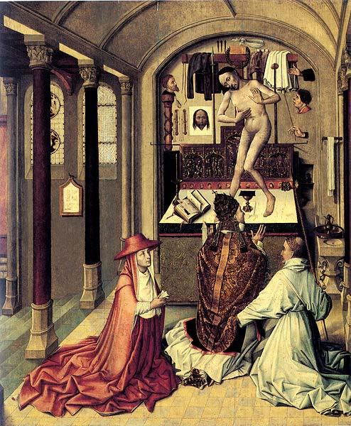 Robert Campin mass of Saint Gregory