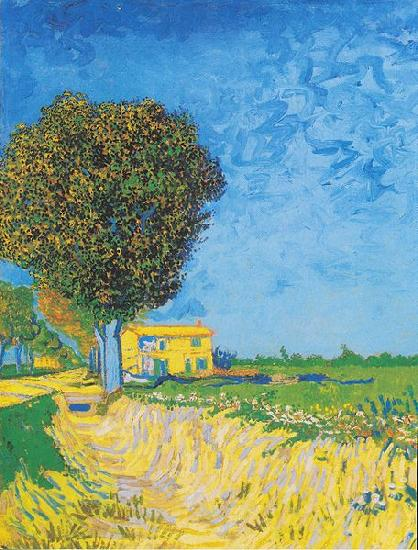 Vincent Van Gogh Avenue at Arles with houses