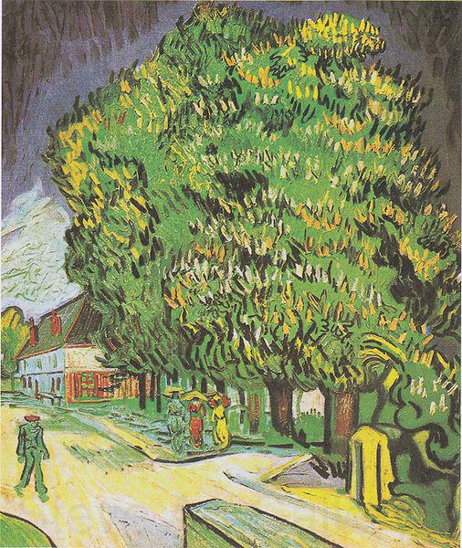 Vincent Van Gogh Blooming chestnut trees