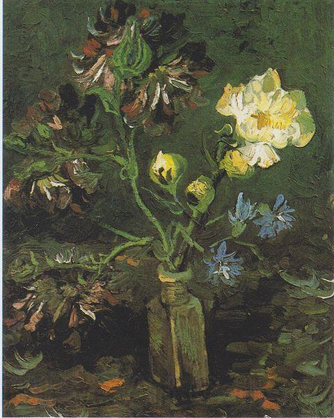 Vincent Van Gogh Vase with Forget-me-not and Peony