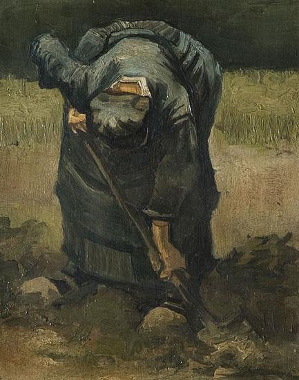 Vincent Van Gogh A Peasant Woman Digging