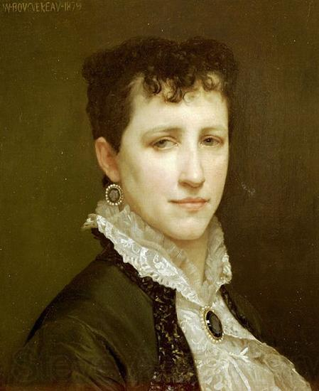 William-Adolphe Bouguereau Portrait of Miss Elizabeth Gardner