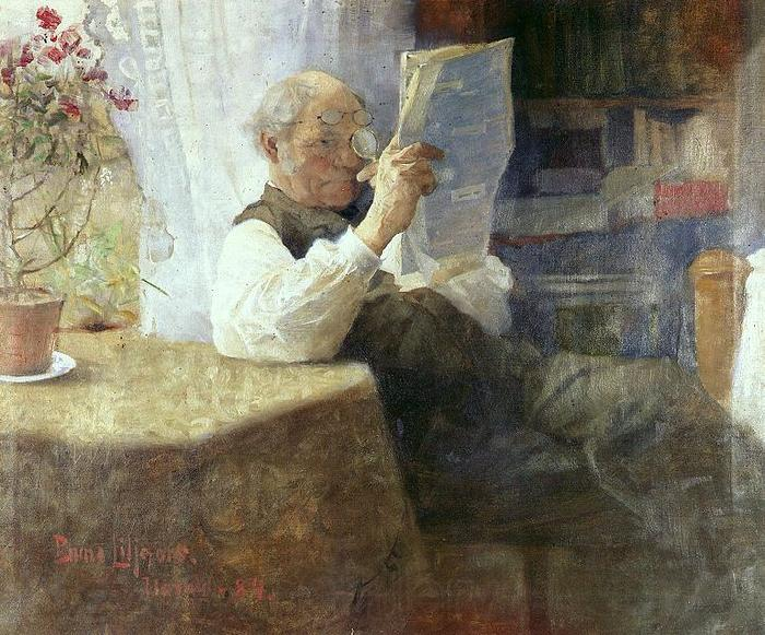 bruno liljefors Portrait of the artist's father