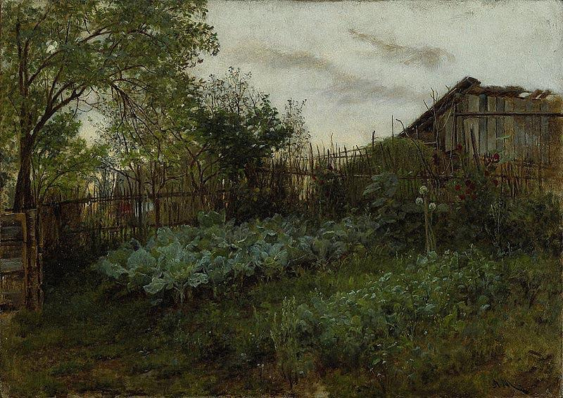 Adolph von Menzel The Back Garden
