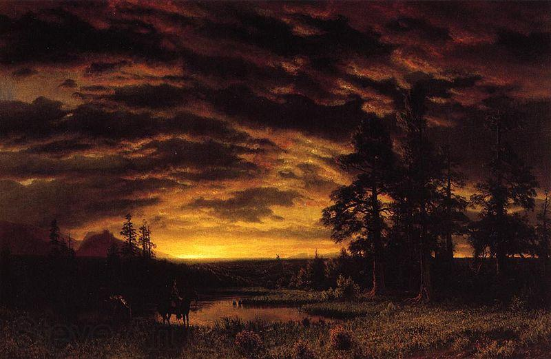 Albert Bierstadt Evening on the Prairie