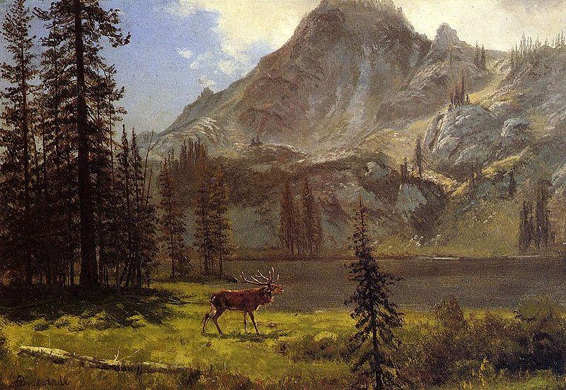 Albert Bierstadt Albert Bierstadt Call Of The Wild