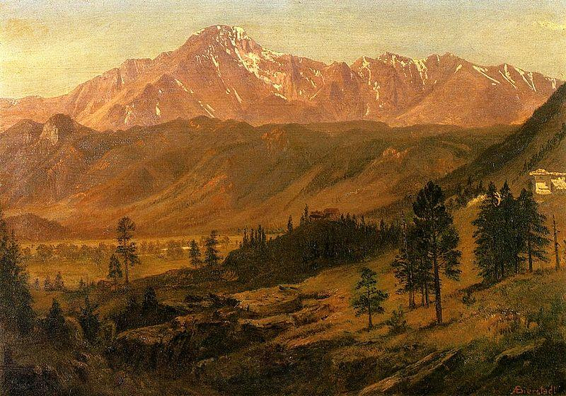 Albert Bierstadt Pikes Peak, Rocky Mountains