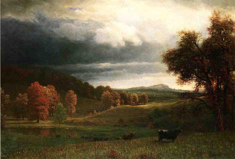 Albert Bierstadt Autumn Landscape: The Catskills