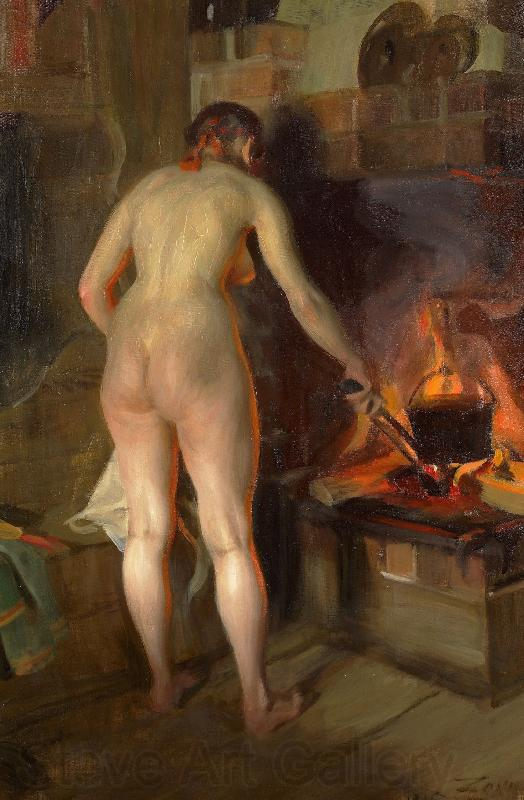 Anders Zorn Cooking Potatoes