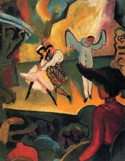 August Macke Russisches Ballett (I)