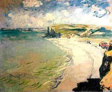 Claude Monet Beach in Pourville