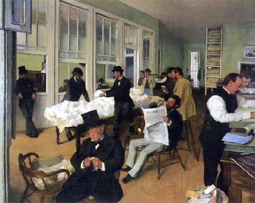 Edgar Degas A Cotton Office in New Orleans