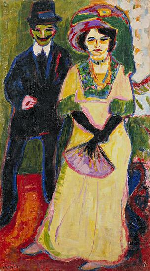 Ernst Ludwig Kirchner Dodo and her brother