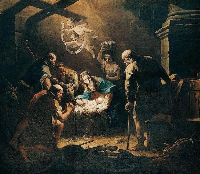 Gaspare Diziani The Adoration of the Shepherds