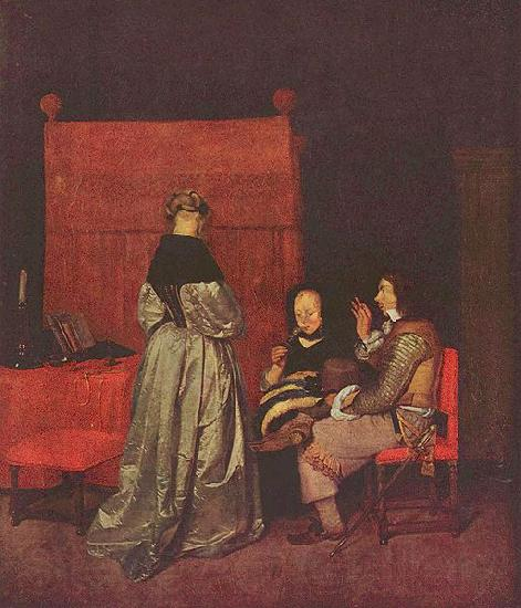 Gerard ter Borch the Younger Paternal Admonition