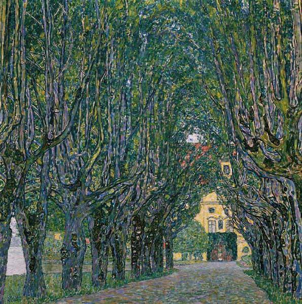Gustav Klimt Avenue in the Park of Schloss Kammer