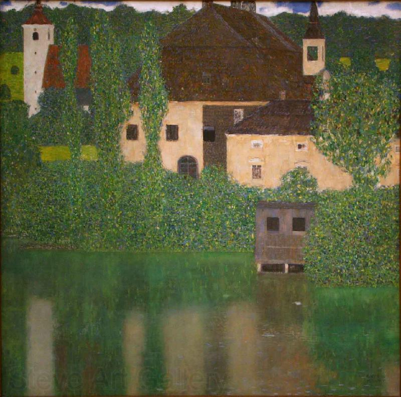 Gustav Klimt Castle with a Moat