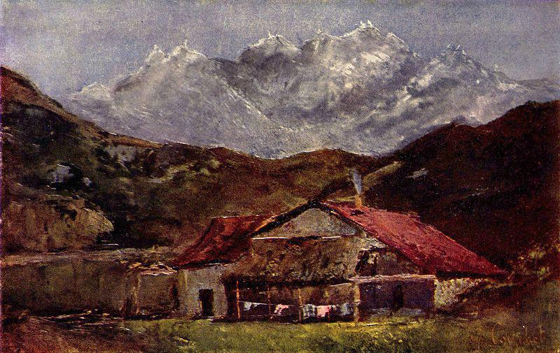 Gustave Courbet Die Berghutte