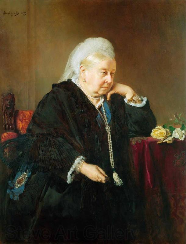 Queen Victoria Painting | Heinrich von Angeli Oil Paintings