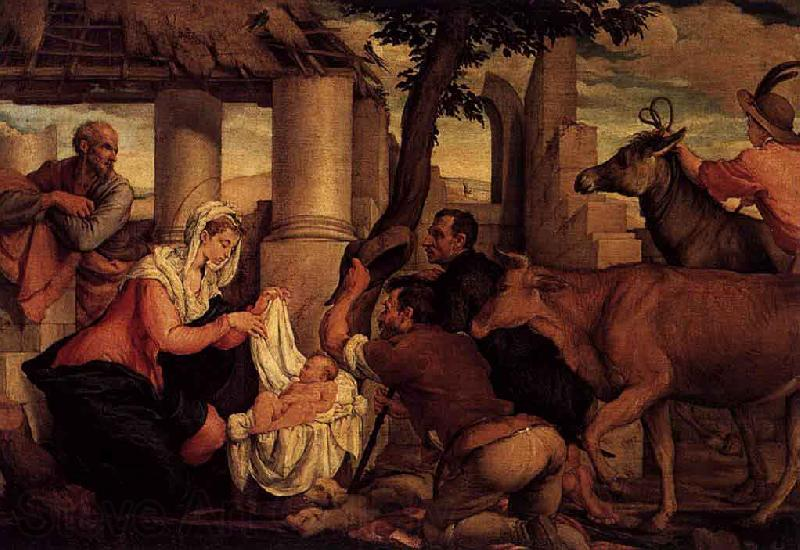 Jacopo Bassano The Adoration of the Shepherds