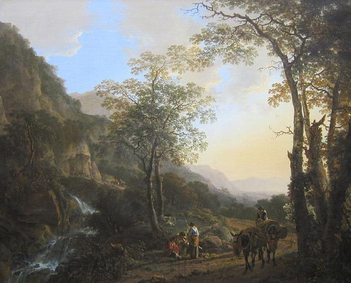 Jan Both An Italianate Landscape with Travelers on a Path, oil on canvas painting by Jan Both, 1645-50, Getty Center