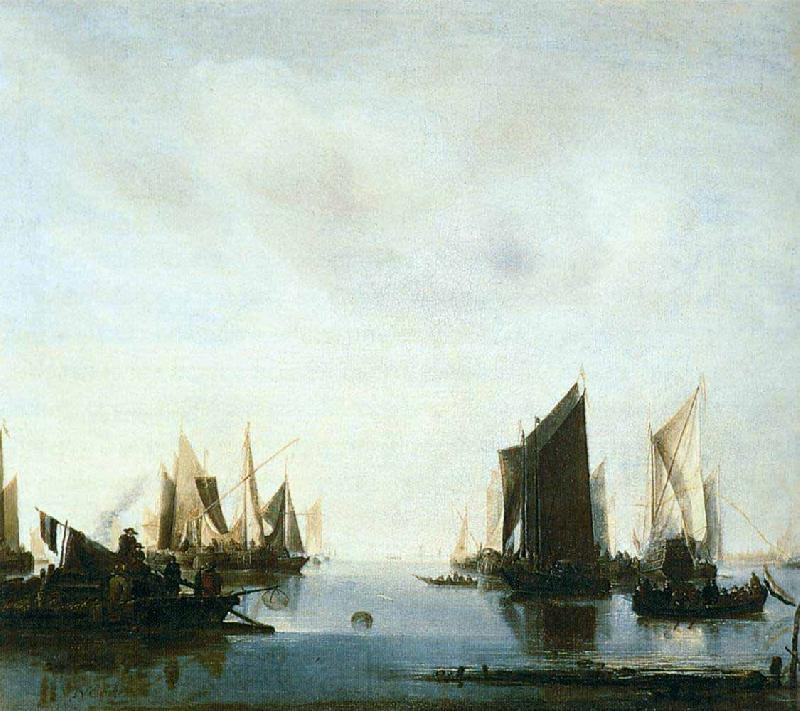 Jan van de Cappelle Seascape with Sailing Boats