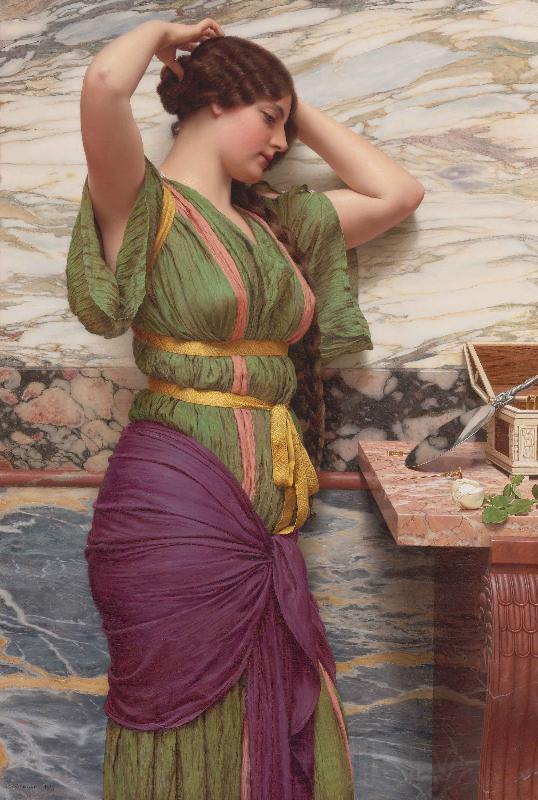 John William Godward A Fair Reflection
