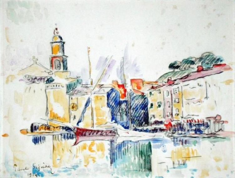 Paul Signac French Port of St. Tropez