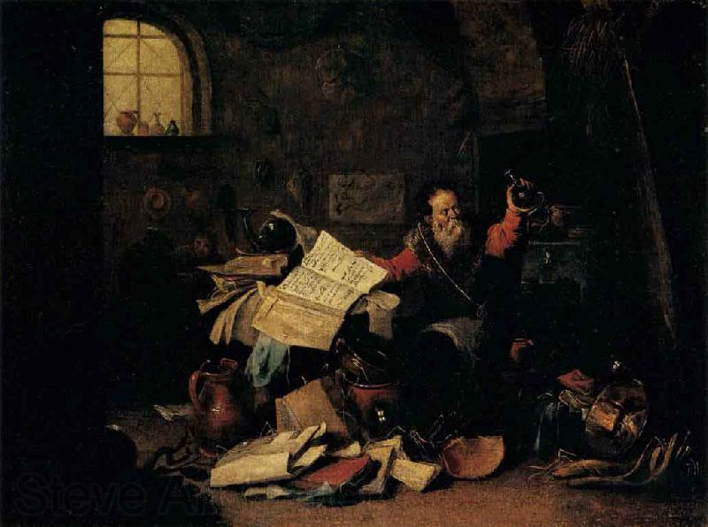 TENIERS, David the Elder The Alchemist