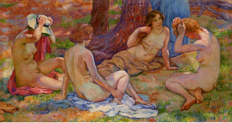 Theo Van Rysselberghe Four Bathers