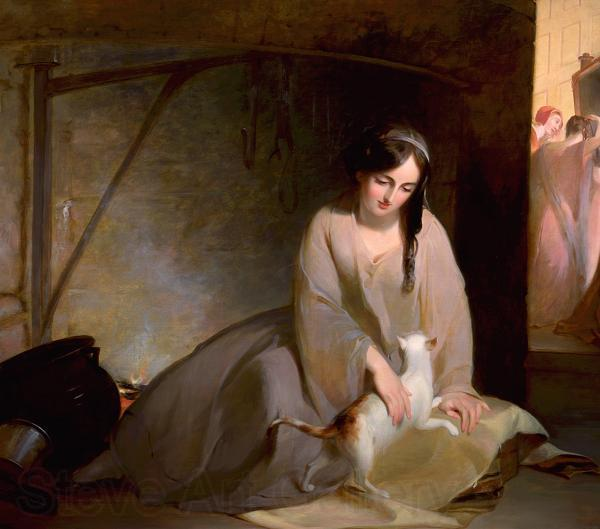 Thomas Sully Cinderella at the Kitchen Fire
