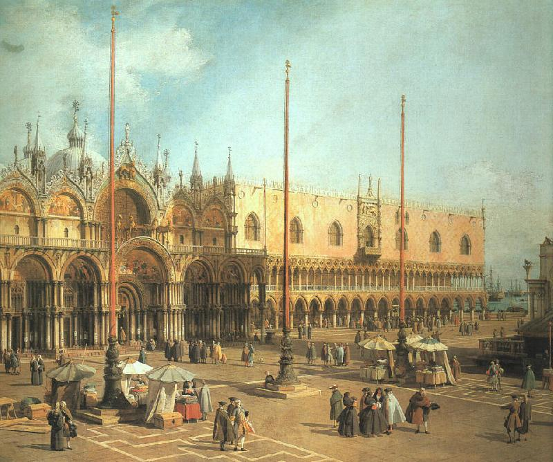 Canaletto Piazza San Marco- Looking Southeast