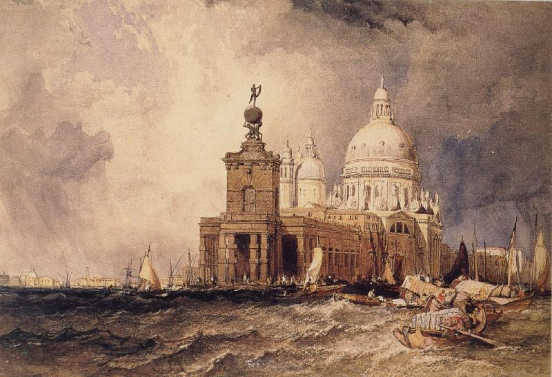 Clarkson Frederick Stanfield Venice:The Dogana and the Salute