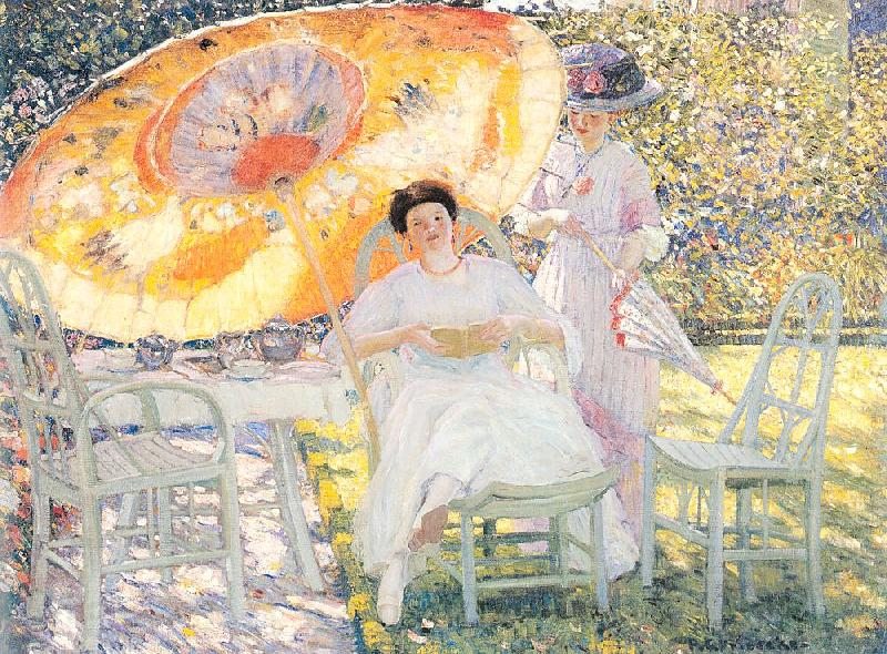 Frieseke, Frederick Carl The Garden Parasol