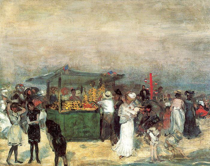 Glackens, William James Fruit Stand, Coney Island