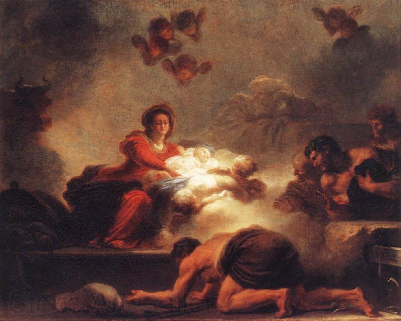 Jean-Honore Fragonard Adoration of the Shepherds