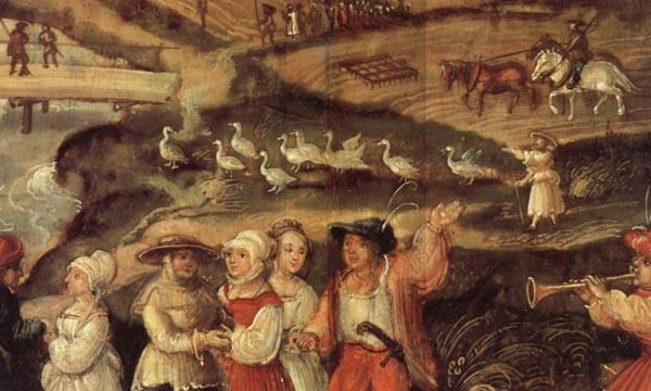 Joachim Beuckelaer Detail of A Village Celebration