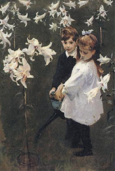 John Singer Sargent Garden Study of the Vickers Children