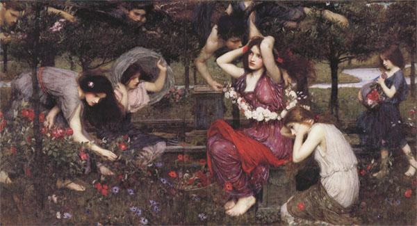 John William Waterhouse Flor and the Zephyrs