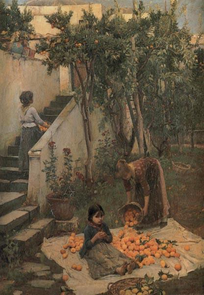 John William Waterhouse Study of a Garden on Capri