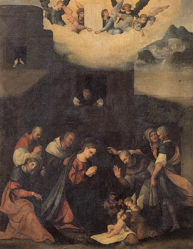 MAZZOLINO, Ludovico The Adoration of the Shepherds