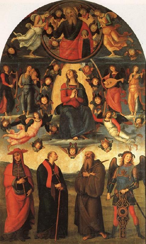 PERUGINO, Pietro The Assumption of the Virgin with Saints