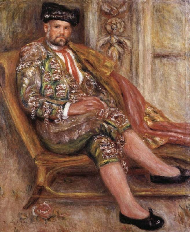 Pierre Renoir Ambrois Vollard Dressed as a Toreador