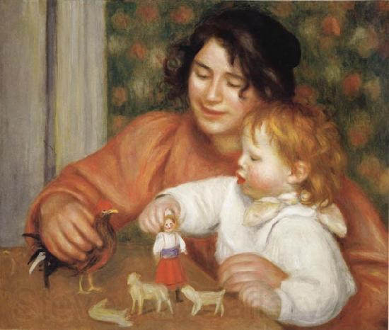 Pierre Renoir Child with Toys(Gabrielle and Jean)