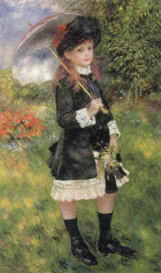 Pierre Renoir Girl with Parasol (Aline Nunes)