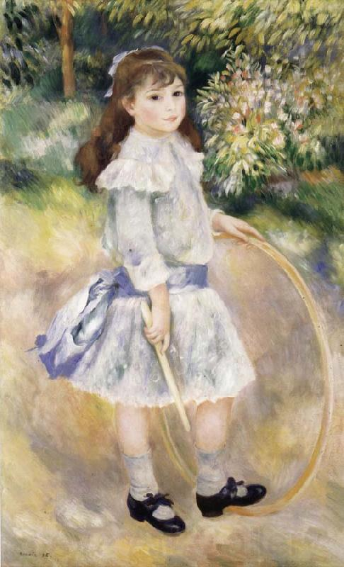 Pierre Renoir Girl with a Hoop