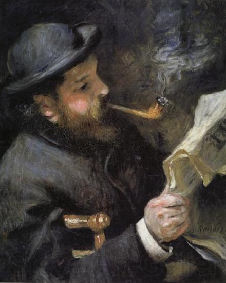 Pierre Renoir Chaude Monet Reading