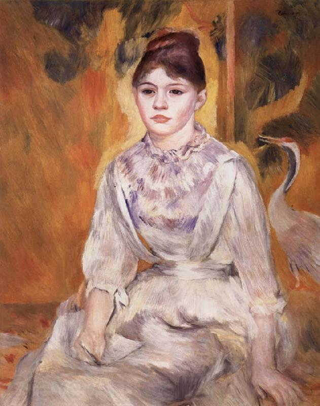 Pierre Renoir Young Girl with a Swan