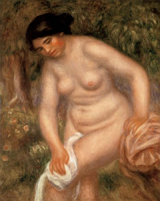 Pierre Renoir Bather Drying herself